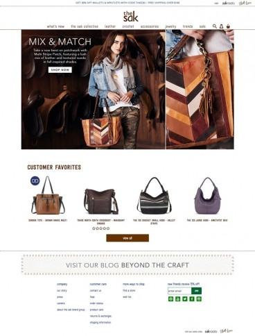 eCommerce website: The Sak