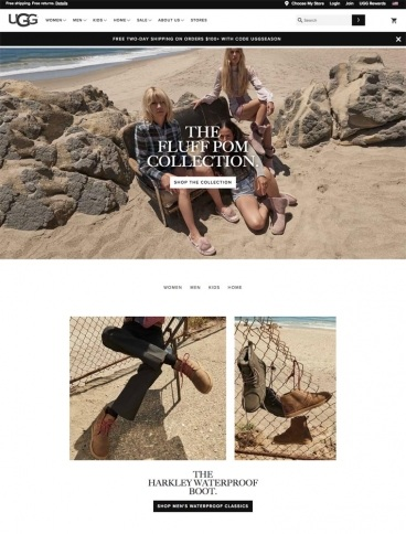 eCommerce website: UGG