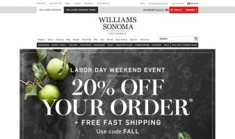 eCommerce website: Williams Sonoma