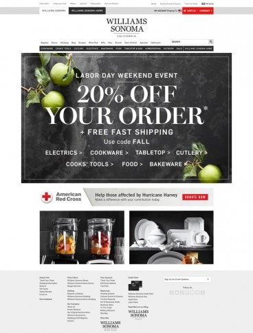 eCommerce website: Williams Sonoma