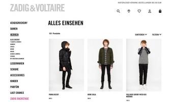 eCommerce website: Zadig and Voltaire