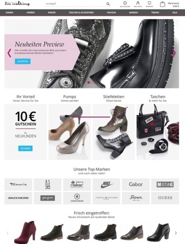 eCommerce website: I'm Walking