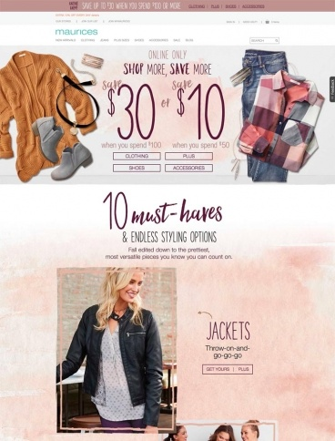 eCommerce website: maurices