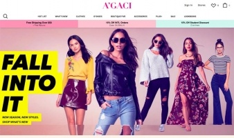 eCommerce website: A'GACI