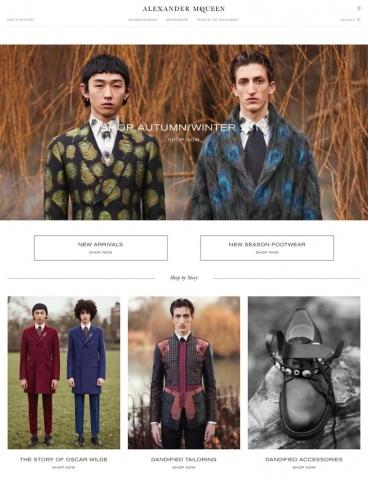 eCommerce website: Alexander McQueen
