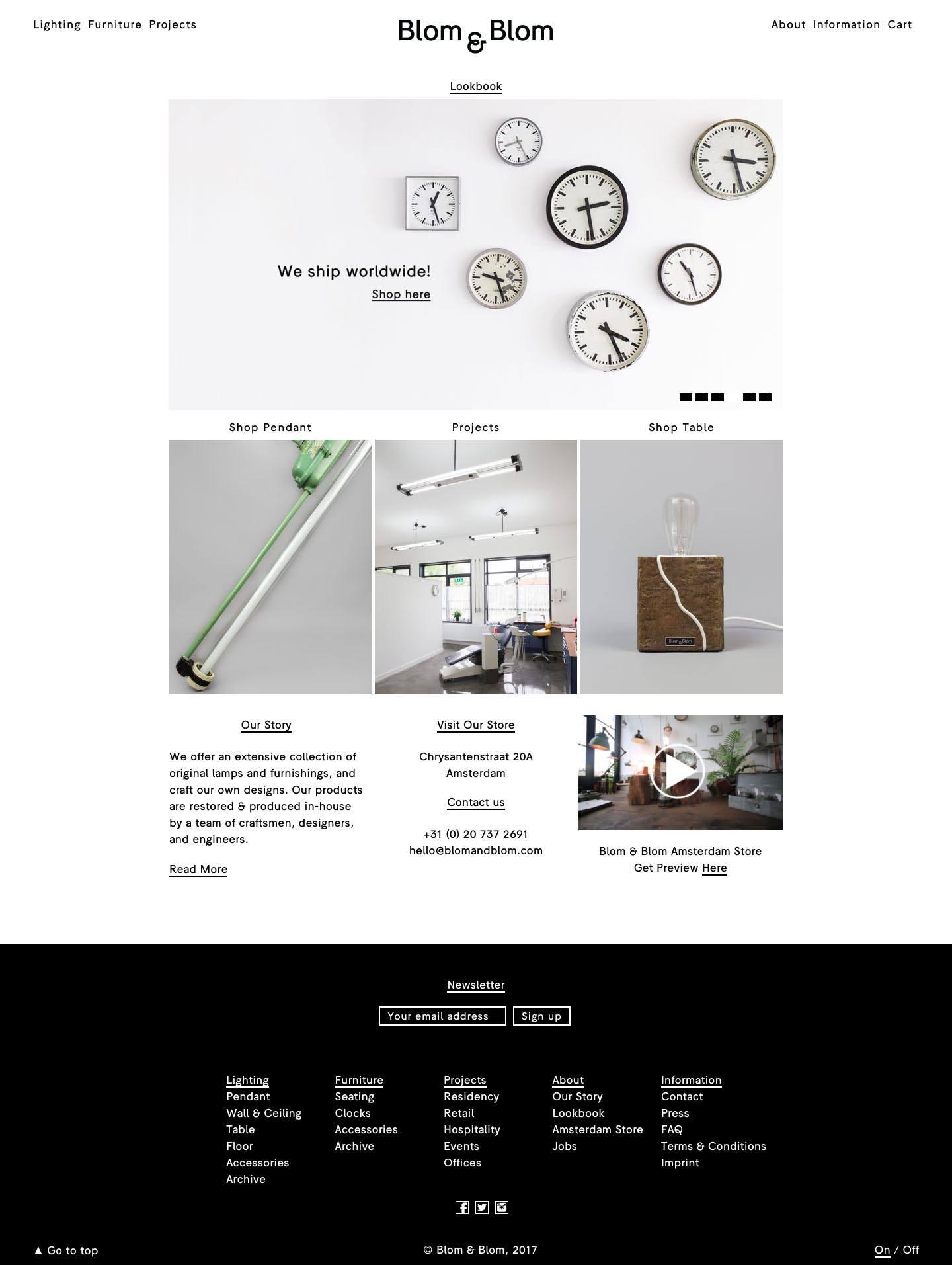 eCommerce website: Blom & Blom