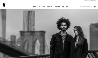 eCommerce website: Brooklyn Industries