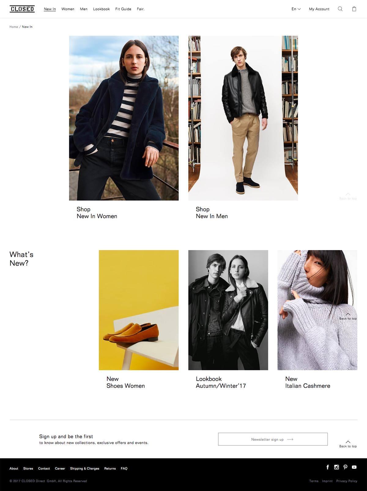 eCommerce website: CLOSED