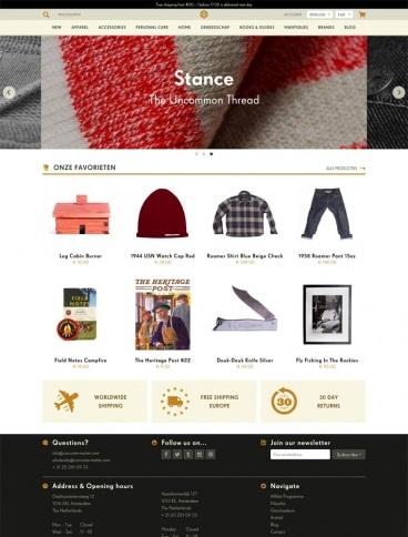 eCommerce website: Concrete Matter