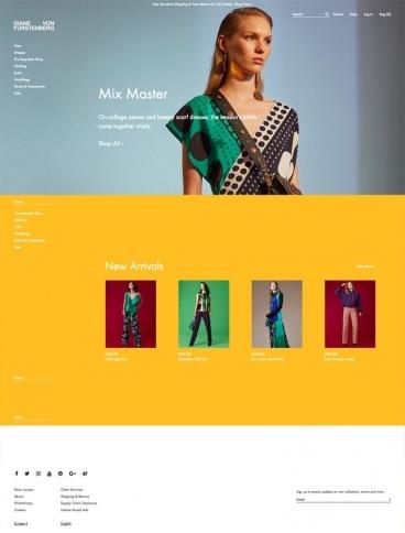eCommerce website: Diane Von Furstenberg
