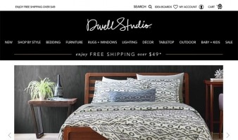 eCommerce website: DwellStudio