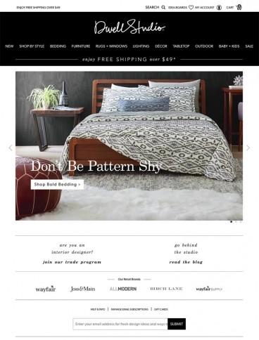 eCommerce website: DwellStudio