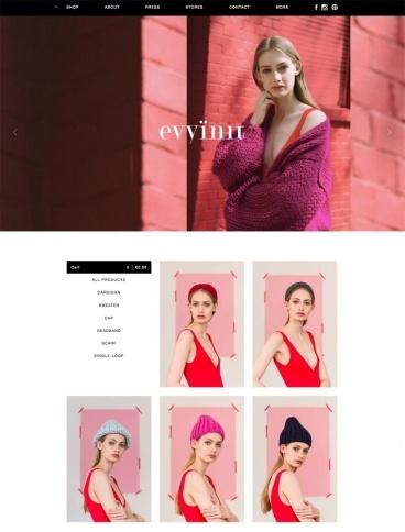 eCommerce website: Evyi