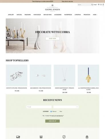 eCommerce website: Georg Jensen