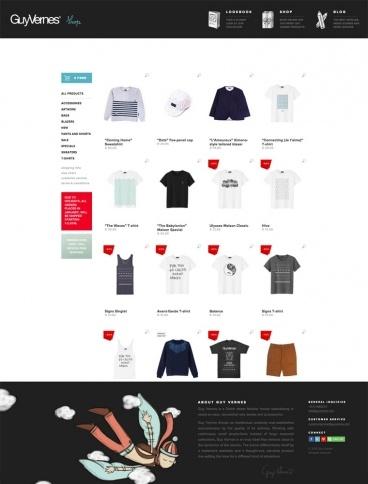 eCommerce website: Guy Vernes