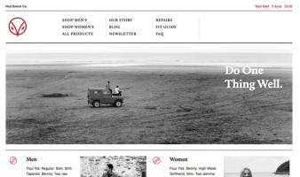 eCommerce website: Hiut Denim