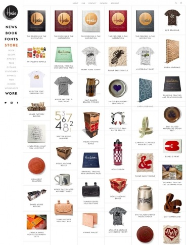 eCommerce website: House Industries