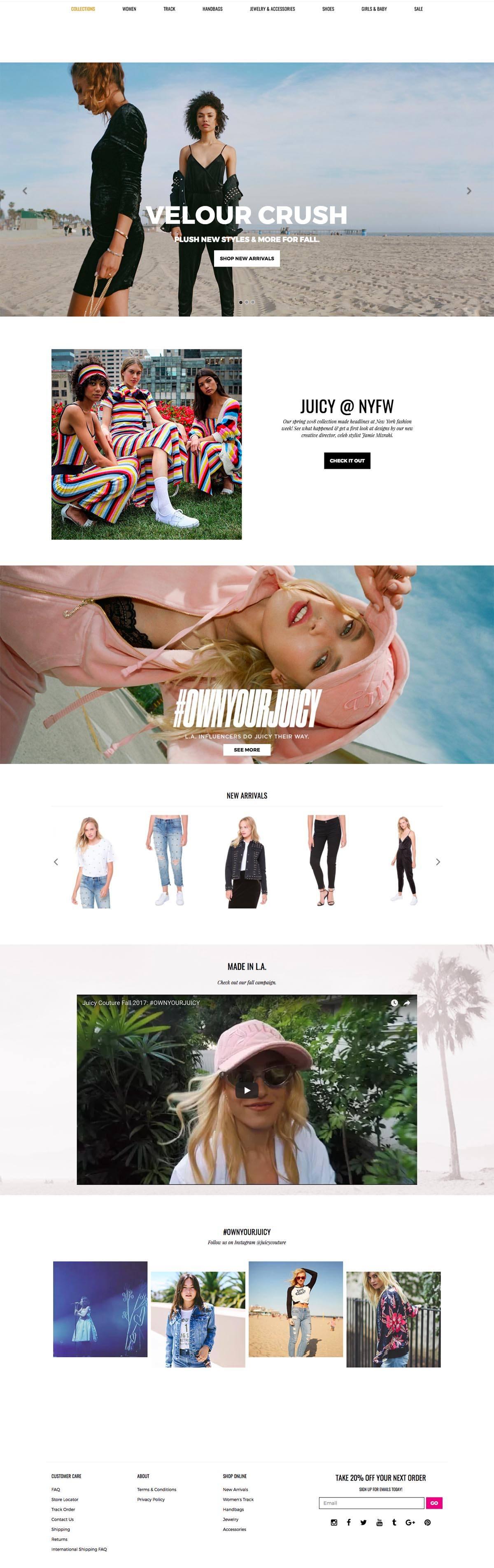 eCommerce website: Juicy Couture