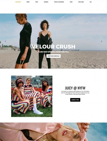 eCommerce website: Juicy Couture