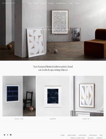 eCommerce website: Kristina Krogh Studio