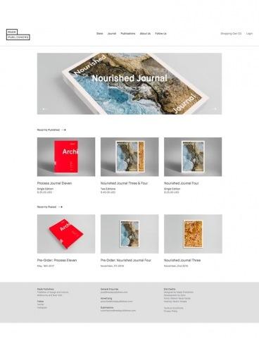 eCommerce website: Made Publishers