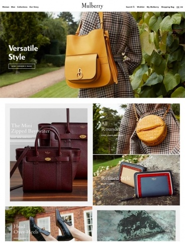 eCommerce website: Mulberry