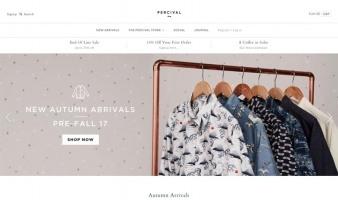 eCommerce website: Percival