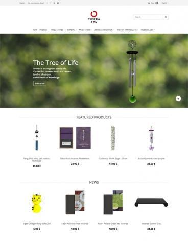 eCommerce website: Tierra Zen