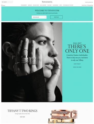 eCommerce website: Tiffany & Co.