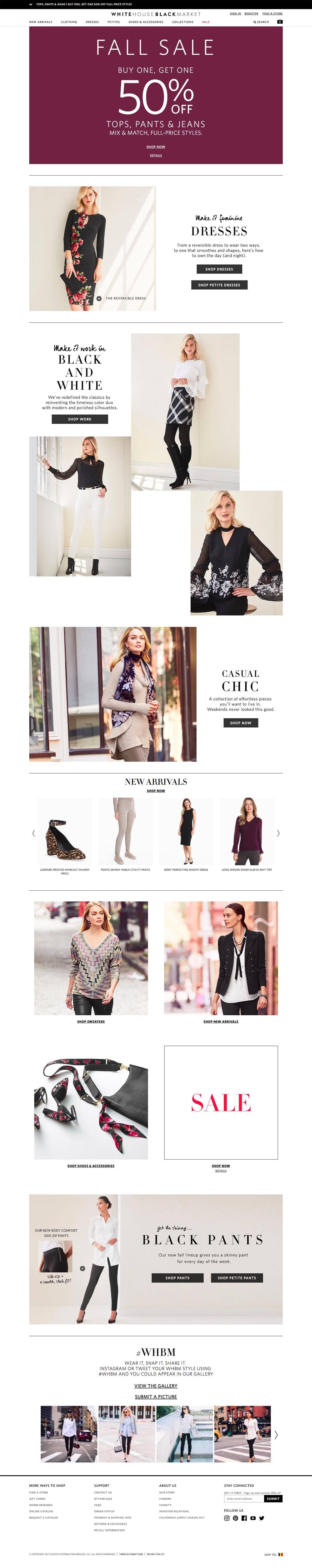 eCommerce website: White House Black Market