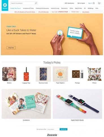eCommerce website: zazzle