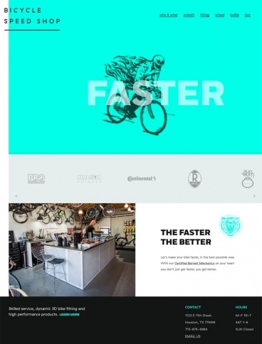 eCommerce website: Bicycle Speed Shop