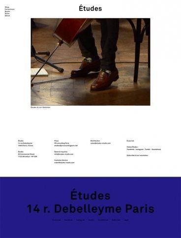 eCommerce website: Études Studio