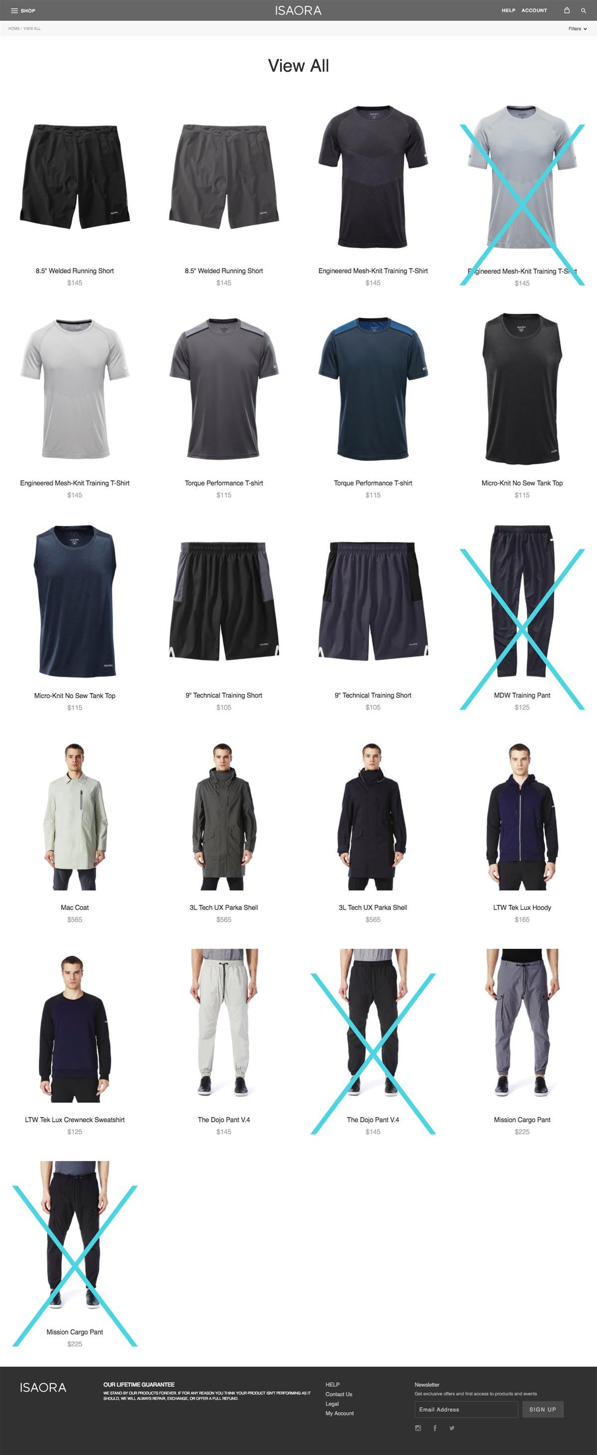 eCommerce website: Isaora