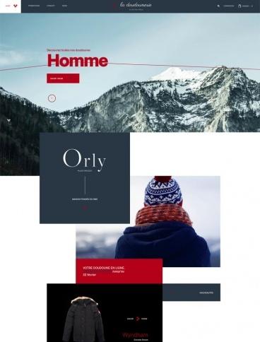 eCommerce website: La Doudounerie