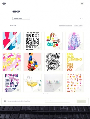 eCommerce website: Lamington Drive