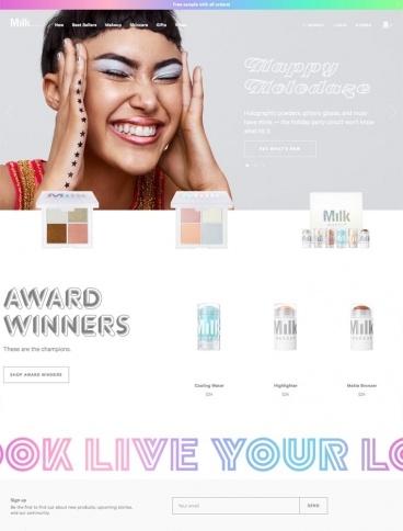 eCommerce website: Milk Makeup
