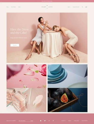 eCommerce website: Name Of Love
