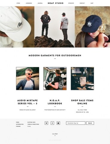 eCommerce website: Noap Studio