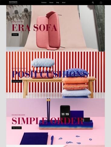 eCommerce website: Normann Copenhagen