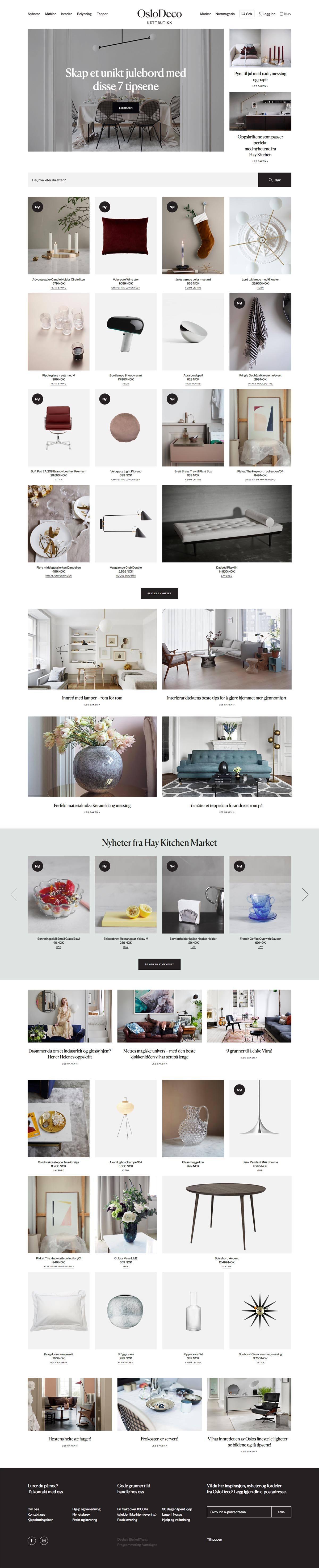 eCommerce website: OsloDeco