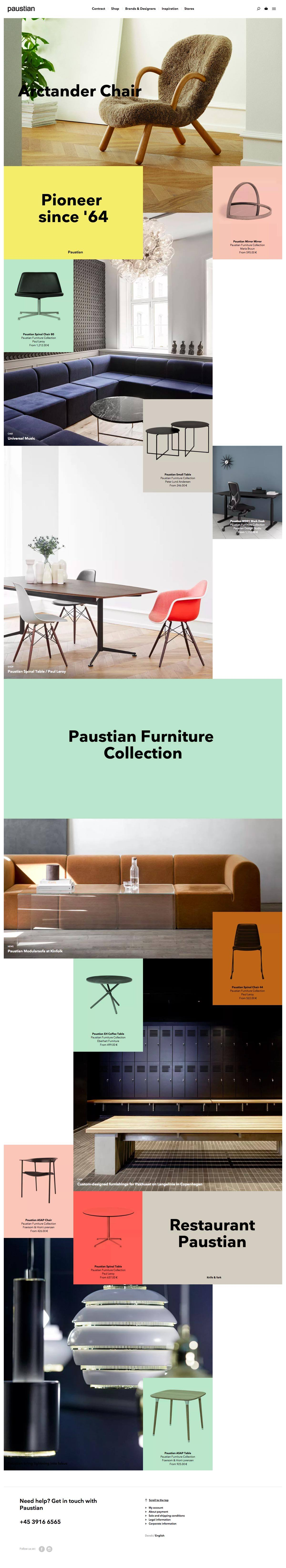 eCommerce website: Paustian