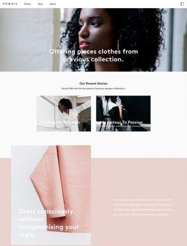eCommerce website: Phaedis