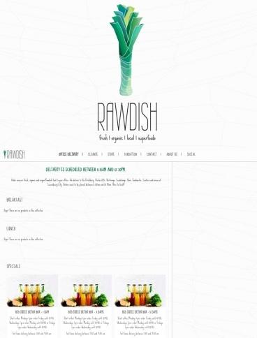eCommerce website: Rawdish
