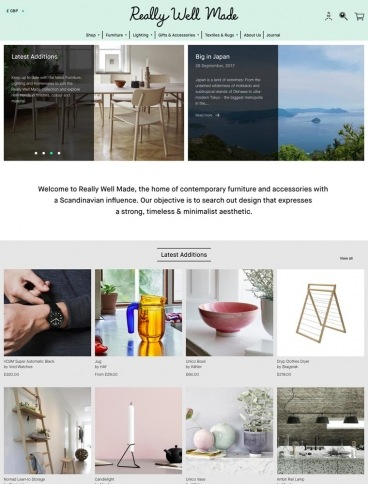 eCommerce website: Really Well Made