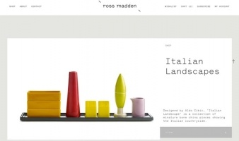 eCommerce website: Ross Madden