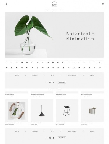 eCommerce website: Simple Form