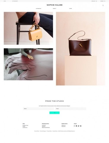 eCommerce website: Sophie Hulme