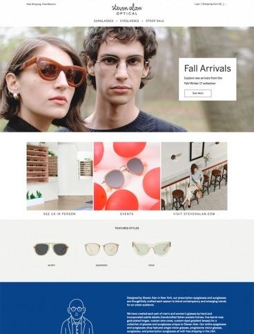 eCommerce website: Steven Alan Optical