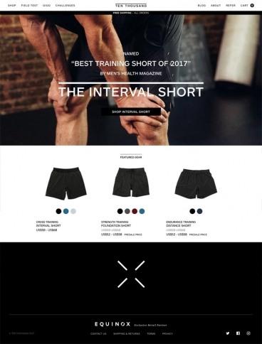 eCommerce website: Ten Thousand